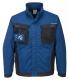 Montérková blůza PW WX3 PES/BA 280g krytý zip kapsy na prsou a u pasu na zip modro/černá