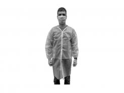 Plášť návštěvnický VISITOR ADM jednorázový kapsy suchý zip bílý