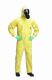 Kombinéza DuPont Tychem C kapuce pružný pas přelepené švy chemicky odolná Typ 3,4,5 žlutá