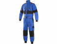 Kombinéza LUX ROBERT bavlna elastický pas náplety na rukávech a nohavicích modro/černá