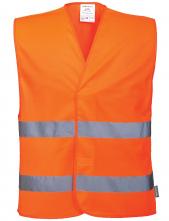 Vesta výstražná PW 2 vodorovné reflexní pruhy zapínání na suchý zip oranžová