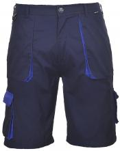 Montérkové kraťasy PW TEXO Contrast BA/PES měchové kapsy tmavě modré