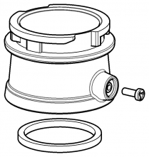 Adaptér s bajonetem na hadice dýchacích kukel pro připojení hadice k filtroventilační jednotce SCOTT PROFLOW