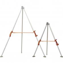 Tripod DELTA TRA22 hliníkový teleskopické nohy 1,2 - 1,97 m kladka pro upevnění navijáku a elevátoru stříbrný