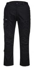 Kalhoty PW KX3 Ripstop do pasu PES/BA 280g zvýšený pas vzadu kapsy na kolenní vložky trojité šití černé