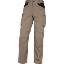 Pracovní kalhoty DELTA PLUS MACH 5 SPRING 3 v 1 do pasu materiál PES/BA zkracovatelné nohavice na 2 délky khaki