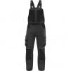 Montérkové kalhoty DELTA MACH SPIRIT 2 s náprsenkou a zipem PES/BA zesílená kolena a rozkrok šedo/černé