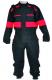 Kombinéza zateplená LUXUS kapsy krytý zip náplety na nohavicích černočervená
