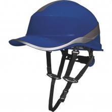 Přilba DELTA BaseBall Diamond V UP reflexní pruhy na skořepině 4 bodový podbradní pásek račna středně modrá