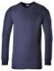 Tričko TERMO KLASIK BA/PES žebrovaný úplet dlouhý rukáv kulatý průkrčník tmavě modré