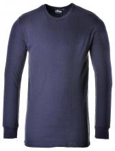 Tričko PW TERMO KLASIK BA/PES žebrovaný úplet dlouhý rukáv kulatý průkrčník tmavě modré