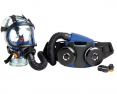 Filtračně ventilační dýchací přístroj Sundström SR 700 IP67 s celoobličejovou maskou SR 200 PC černo/modrá