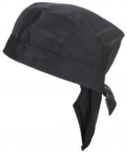 Čepice PW CHEFS Bandana kuchařská PES/BA tvar zavázaného šátku 2 cípy na stahování černá