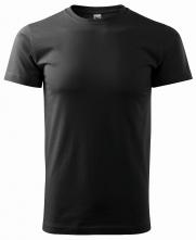 Tričko Basic 160 bavlněné bezešvý střih trupu kulatý průkrčník silikonová úprava černá