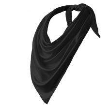 Šátek Relax 100% PES Interlock obšité okraje trojcípý 65 x 65 x 92 cm černý