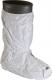Návleky na obuv CHEMSPLASH vysoké jednorázové antistatické elastické kotníky a horní okraj PVC podrážka bílé