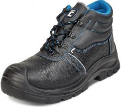 Pracovní kotníková obuv CERVA RAVEN XT O2 SRC CI kožená zateplená měkký límec PU/PU ochrana špice černo/modrá