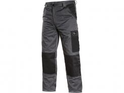 Montérkové kalhoty CXS Phoenix Cefeus do pasu PES/BA zesílená kolena šedo/černé