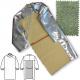 Zástěra SFP 400 PRO HEAT slévačská pokovená tepelně odolná s dlouhými rukávy otevřená záda s řetízkem 1300 mm stříbrná