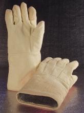 Rukavice SAHARA S5 prstové tepluodolné aramidové 600 °C volná krátká manžeta 350 mm žluté