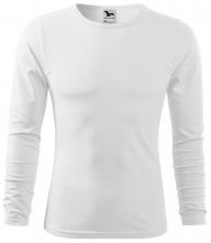Tričko Malfini Fit-T LS bavlna 160 g dlouhý rukáv kulatý průkrčník pánské bílé