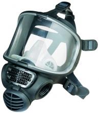 Celoobličejová maska SCOTT PROMASK Black malá boční připojení filtru černá