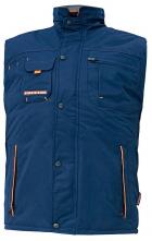 Vesta CERVA EMERTON stojáček podšitý fleecem větruodolná zateplená PES/PVC teplá podšívka zip tmavě modrá