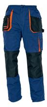 Montérkové kalhoty CERVA EMERTON do pasu PES/BA zesílená kolena měchové kapsy tmavě modré/černé