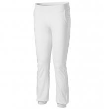 Kalhoty Malfini Leisure Pants 200 dámské elastický materiál BA/elastan široký pružný pas bílé