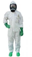 Kombinéza PartiGuard® Puntiform 65 g/m2 Typ 5 a 6 kapuce krytý zip stažené rukávy a nohavice bílá