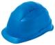 Ochranná přilba ROCKMAN C6R HDPE 12 ventilačních otvorů látkový kříž ráčna protažená v zátylku modrá