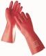 Rukavice DG STANDARD máčené v PVC 35 cm červené