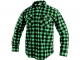 Košile pracovní CXS TOM flanelová kostkovaná dlouhý rukáv zelená