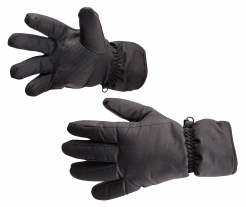 Rukavice SKI zimní zateplené nylon/microfleece výplň PES voděodolné černé