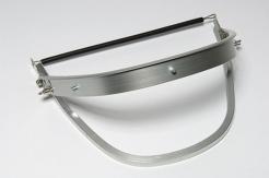 Držák štítu Universal (FH66) hliníkový výklopný na přilby Rockman Voss Protector LAS Schubert stříbrný