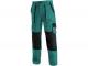 Montérkové kalhoty CXS LUXY JOSEF do pasu zeleno/černé