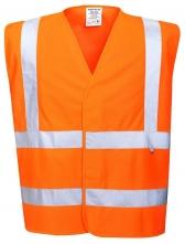 Ochranná výstražná vesta FR71 antistatická nehořlavá 2 + 2 reflexní pruhy HV oranžová