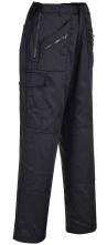 Kalhoty PW Action do pasu zapínání na zip zateplené zesílená kolena s kapsou tmavě modré