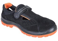 Obuv Steelite Obra S1 sandál šemiš suchý zip pevná pata bezpečnostní špice větrání černo/oranžová