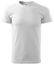 Tričko Basic krátký rukáv kulatý průkrčník 100% bavlna 160g bílé