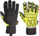 Rukavice Safety Impact syntetická kůže/elastan/neopren/PVC protinárazové nezateplené žluto/černé