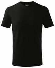 Tričko Malfini Classic 160 dětské bavlna kulatý průkrčník trup beze švu černé