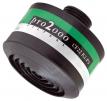 """Filtr K2P3 R D se závitem 40 mm x 1,7"""" proti čpavku částicím bakteriím virům zelenobílý proužek"""