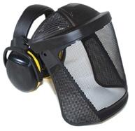 Štít Hellberg SAFE 1 nylonová mřížka se sluchátky Secure 2