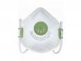 Respirátor OXY 310 SV FFP3V tvarovaný zelený výdechový ventil jednotlivě balený opakovatelně použitelný bílý