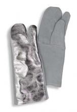Rukavice TEMPEX 3-prsté dlaň kůže hřbet pokovený 200°C 400 mm dlouhé