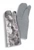 Rukavice TEMPEX 3 prsté dlaň kůže hřbet pokovený 200°C dlouhé 400 mm šedo/stříbrné