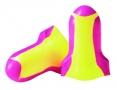 Tlumící zátky HOWARD LEIGHT LASER LITE paměťová PU pěna jednotlivě balené v sáčku žlutočervené