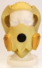 Požární úniková dýchací ochranná maska DURAM COGO elastická kukla s čirým zorníkem a filtrem ABEKP-CO žlutá