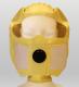 Úniková maska DURAM KIMI elastická kukla s čirým zorníkem a filtrem proti chemickým výparům a částicím ABEKP žlutá